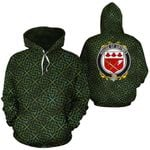 Grymes Family Crest Ireland Background Gold Symbol Hoodie