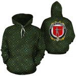 O'Loughlin Family Crest Ireland Background Gold Symbol Hoodie