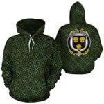 O'Quilty Family Crest Ireland Background Gold Symbol Hoodie