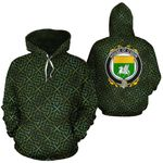 O'Quin Family Crest Ireland Background Gold Symbol Hoodie