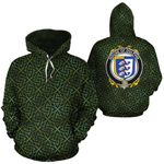 Dolphin Family Crest Ireland Background Gold Symbol Hoodie
