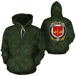 Sloane Family Crest Ireland Background Gold Symbol Hoodie