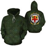 Bourke Family Crest Ireland Background Gold Symbol Hoodie