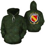 Shannon Family Crest Ireland Background Gold Symbol Hoodie