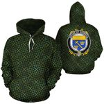 Shinnick Family Crest Ireland Background Gold Symbol Hoodie