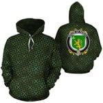 Paisley Family Crest Ireland Background Gold Symbol Hoodie