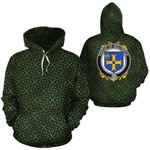 Molyneux Family Crest Ireland Background Gold Symbol Hoodie
