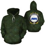 Meighe Family Crest Ireland Background Gold Symbol Hoodie