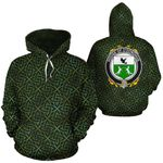 O'Donohue Family Crest Ireland Background Gold Symbol Hoodie