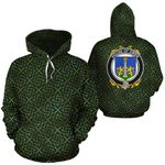 Owen Family Crest Ireland Background Gold Symbol Hoodie