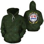 O'Melaghlin Family Crest Ireland Background Gold Symbol Hoodie