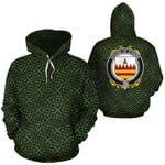 O'Hare Family Crest Ireland Background Gold Symbol Hoodie