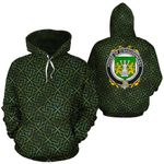 O'Shaughnessy Family Crest Ireland Background Gold Symbol Hoodie