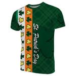 St. Patrick's Day Ireland Flag T-Shirt Shamrock