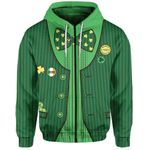 St. Patrick's Day Ireland Zip-Hoodie Gile Special Style No.2