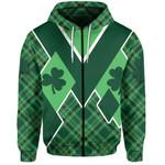 St. Patrick's Day Ireland Zip-Hoodie Shamrock