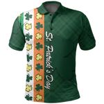 St. Patrick's Day Ireland Flag Polo Shirt Shamrock