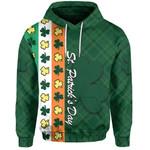 St. Patrick's Day Ireland Flag Hoodie Shamrock