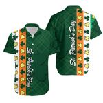 St. Patrick's Day Ireland Flag Hawaiian Shirt Shamrock