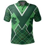 St. Patrick's Day Ireland Polo Shirt Shamrock