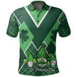 St. Patrick's Day Ireland Gnome Polo Shirt Shamrock