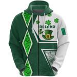 Ireland Zip Hoodie Irish Saint Patrick Day Unique Vibes K8