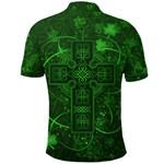 Ireland Polo Shirt Irish Saint Patrick Day Celtic Cross K8