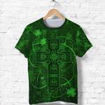 Ireland T Shirt Irish Saint Patrick Day Celtic Cross K8