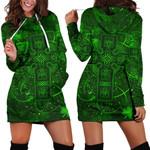 Ireland Women Hoodie Dress Irish Saint Patrick Day Celtic Cross