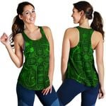 Ireland Women Racerback Tank Irish Saint Patrick Day Celtic Cross