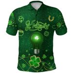 Patrick's Day Polo Shirt Shamrock Vibes K36