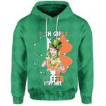 (Custom Personalised) Patrick's Day Hoodie Irish Girl Shamrock  | 1stIreland
