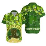 (Custom Personalised) St. Patrick's Day Hawaiian Shirt Shamrock  | 1stIreland