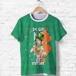 Patrick's Day T Shirt Irish Girl Shamrock  | 1stIreland