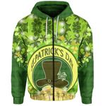 St. Patrick's Day Zip Hoodie Shamrock    1stIreland