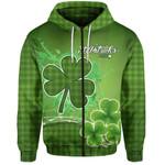 (Custom Personalised) Happy Saint Patrick's Day Zip Hoodie Shamrock  | 1stIreland