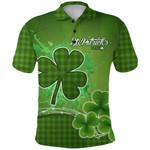 (Custom Personalised) Happy Saint Patrick's Day Polo Shirt Shamrock  | 1stIreland
