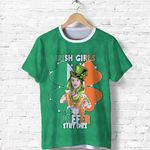 (Custom Personalised) Patrick's Day T Shirt Irish Girl Shamrock  | 1stIreland