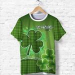 (Custom Personalised) Happy Saint Patrick's Day T Shirt Shamrock  | 1stIreland