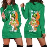 Patrick's Day Hoodie Dress Irish Girl Shamrock  | 1stIreland