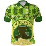 (Custom Personalised) St. Patrick's Day Polo Shirt Shamrock  | 1stIreland
