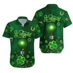 Patrick's Day Hawaiian Shirt Shamrock Vibes K36