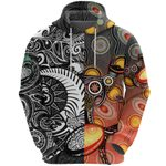New Zealand Maori And Australia Aboriginal Rugby Hoodie We Are Family - Black