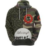 Anzac Maori Hoodie Camo Lest For Get K36