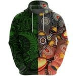 New Zealand Maori And Australia Aboriginal Rugby Hoodie We Are Family - Green