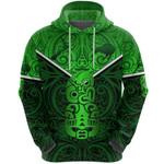 New Zealand Maori Rugby Hoodie Pride Version - Green K8