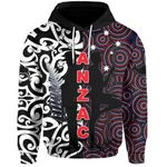 New Zealand Hoodie Anzac Day Maori Mix Aboriginal