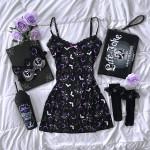 Starry Vampire Bats Dress TH17