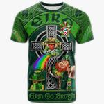 1stIreland Ireland T-Shirt - Sanders Crest Tee - Irish Shamrock with Claddagh Ring Cross A7