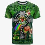 1stIreland Ireland T-Shirt - Sarsfield Crest Tee - Irish Shamrock with Claddagh Ring Cross A7